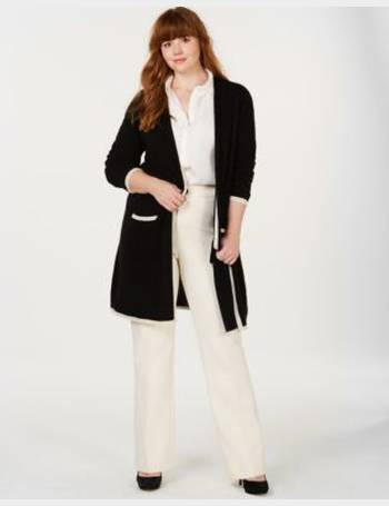 65f075178b5 Plus Size Pure Cashmere Border-Stripe Cardigan from Macy s