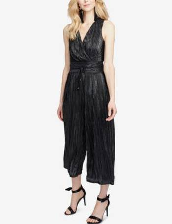 f6c0ac7ac733 RACHEL Rachel Roy. Metallic-Pleated Cropped Jumpsuit. from Macy s