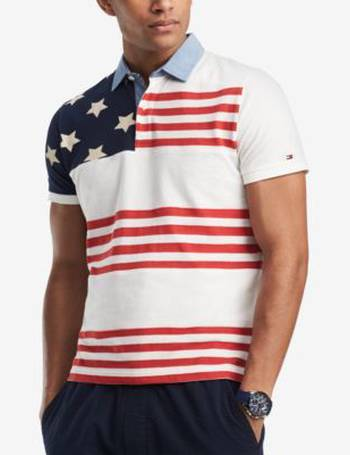 48478c17 Tommy Hilfiger. Men's Big and Tall Adams Flag Classic Fit Polo. from Macy's