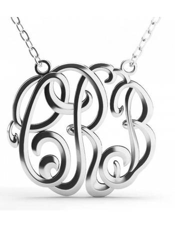 b6d77a247 Jeulia Cube Monogram Necklace Sterling Silver from Jeulia Jewelry