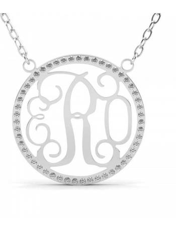 5956ac797 Jeulia Circle Monogram Necklace Sterling Silver from Jeulia Jewelry