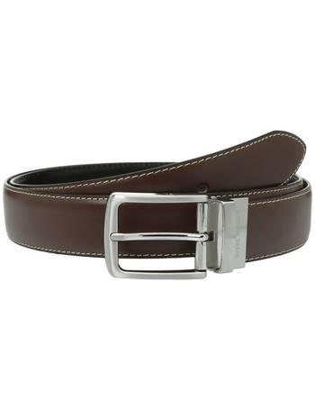 Florsheim Mens Smooth Leather 30 mm Belt
