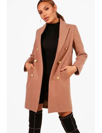 ef60fb075 Shop Women's boohoo Double-Breasted Coats up to 70% Off | DealDoodle
