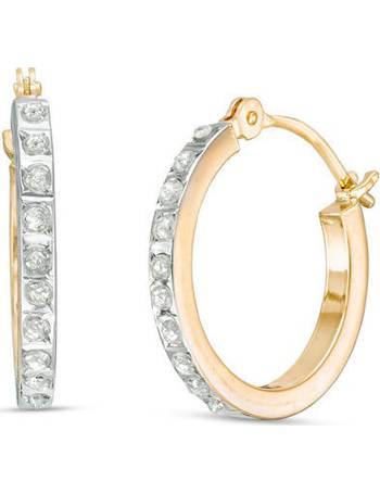 228fda3012b4 Diamond Fascination™ Hoop Earrings in 14K Gold from Zales