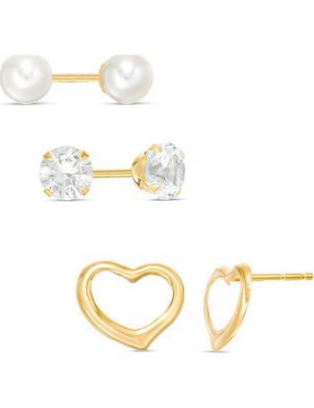 Shop Women S Zales Gold Earrings Up To 60 Off Dealdoodle