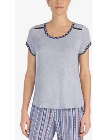 Layla Raglan-Sleeve Rayon Pajama Top
