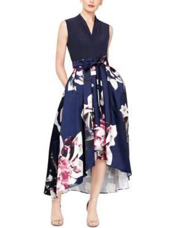 S.L Fashions Women/'s Beaded Hi-Low Chiffon Dress