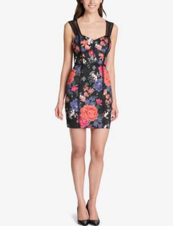 47d4acb8f69 Floral Corset-Seam Bodycon Dress from Macy s. 35% OFF