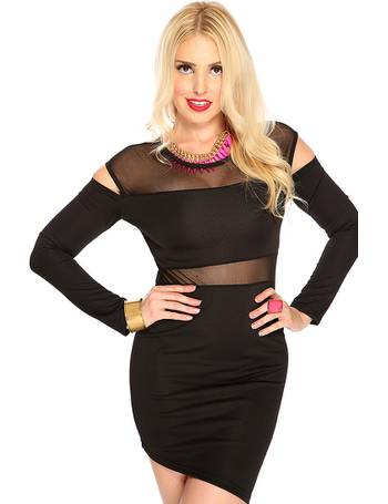 25db7765a6e1fb Black Long Sleeves Sexy Bodycon Club Wear Little Black Dress from  Amiclubwear