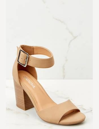 7afe10a8edc Make A Stand Nude Ankle Strap Heels from Red Dress Boutique