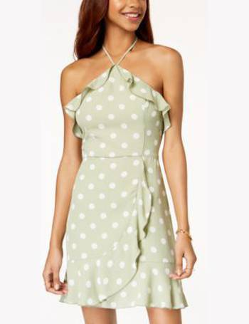 3f70d8e34 Teeze Me. Juniors' Off-The-Shoulder Fit & Flare Dress. from Macy's. $37.99  $64.00. Juniors' Ruffled Polka-Dot Halter Dress from Macy's