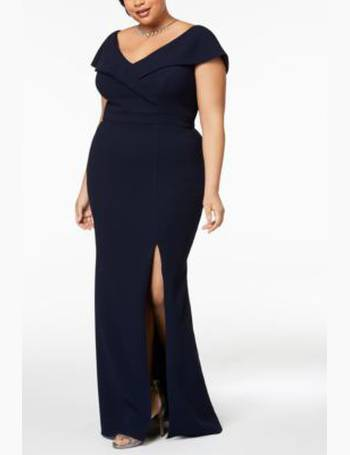 bf390543 Xscape. Plus Size Off-The-Shoulder Slit Gown. from Macy's