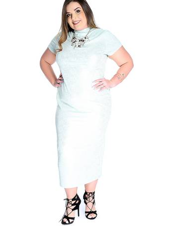 e14f0d55842 Sexy Mint Gold Plus Size Short Sleeve Metallic Print Cocktail Dress from  Amiclubwear