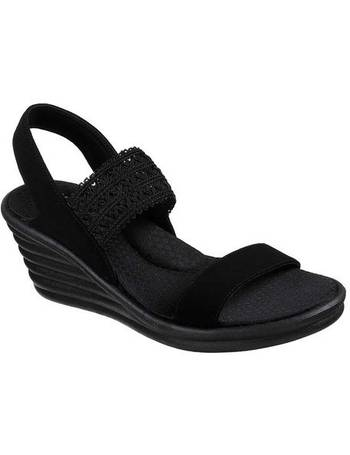 7dcae3d1891 Women s Skechers Rumblers Wave Drama Diva Wedge Sandal from Shoes.com