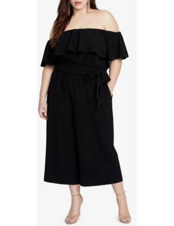 3a1bcf2d71d2 RACHEL Rachel Roy. Trendy Plus Size Off-The-Shoulder Jumpsuit. from Macy s