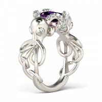 Women's Jeulia Jewelry  Emerald Rings