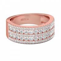 Women's Jeulia Jewelry  Pave Rings