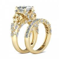 Women's Jeulia Jewelry  Yellow Gold Rings