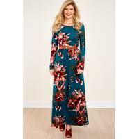 Women's Red Dress Boutique Floral Dresses