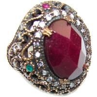 Women's Silverrushstyle Emerald Rings