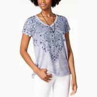 Women's Style & Co V-Neck T-Shirts